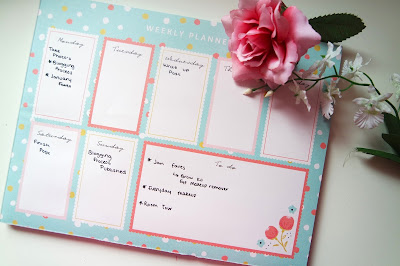 Planning, Weekly Calendar, Blogging Organisation, To do, Photography, Flowers