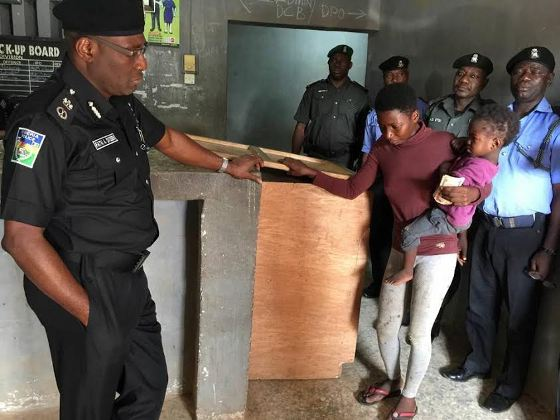 Image result for picture of a woman and her daughter detained for stealing plantain
