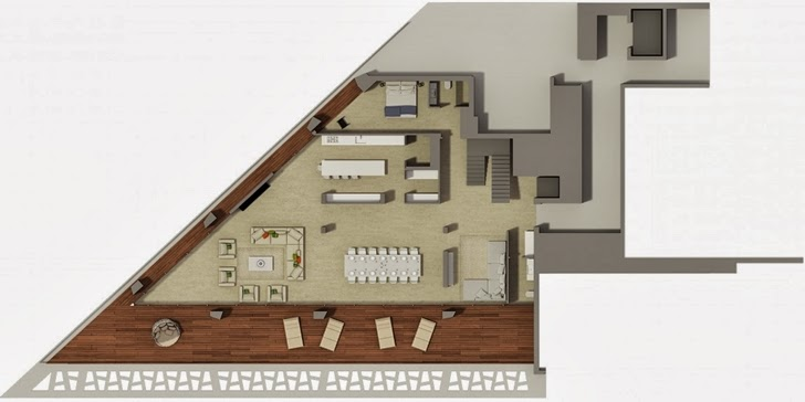 First floor plan of Modern villa by Studio Aristo