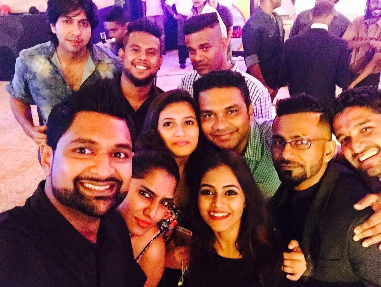 Sri lankan hot actresses fun night party dance