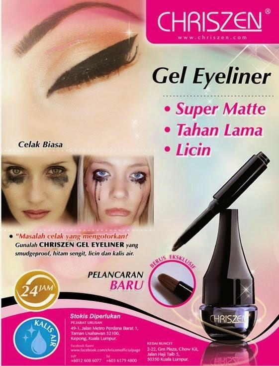 chriszen gel eyeliner harga testimoni berkesan hcube