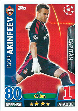 Star Player TOPPS Champions League 154 Andrés Guardado