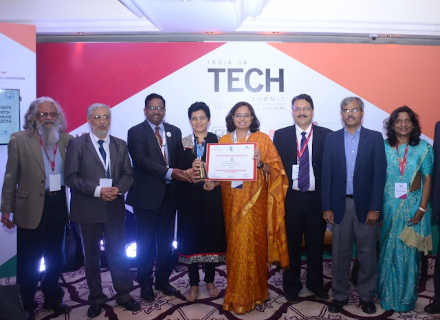 WeSchool, Bengaluru bags top honors as the 'HUL Best Industry Linked Emerging Management Institute' at the  India-UK Tech Summit-2016