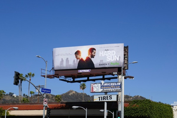 Hard Sun series launch billboard