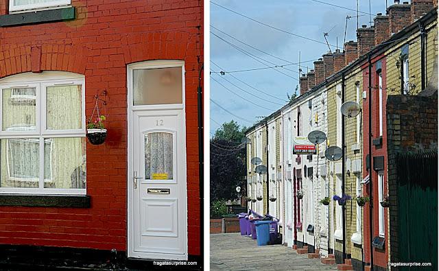 Casas de Ringo Starr e George Harrison, em Liverpool