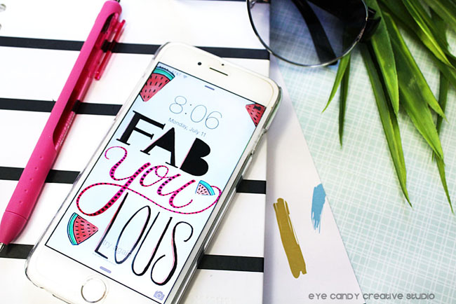 notebook, palms, shades, fabYOUlous, hand lettering, cell phone background