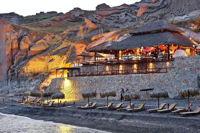 Bares românticos em Santorini