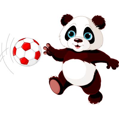 Soccer star panda