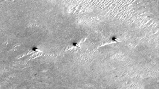 Estas torres en Marte no han sido investigadas