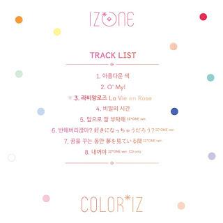 coloriz tracklist izone debut