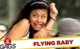 Baby Flies Out of Stroller Prank – JFL Gags Asia Edition