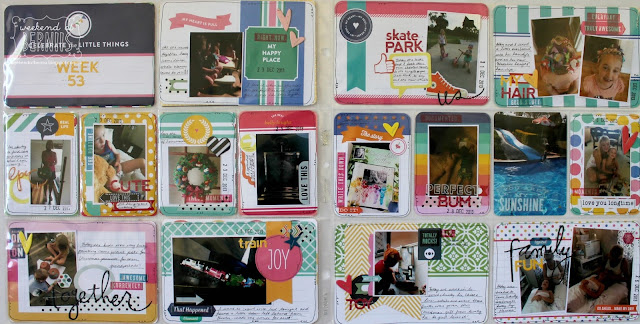 "A weekend with "" Week 53"" project life layout by Bernii Miller."