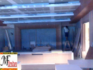 workshop custom setting interior furniture - Bioskop Mini - Maharumi Furniture
