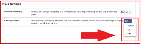 how to turn off autoplay on facebook desktop