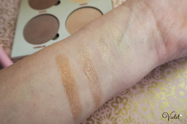 anastasia beverly hills glow kit sun dipped swatches