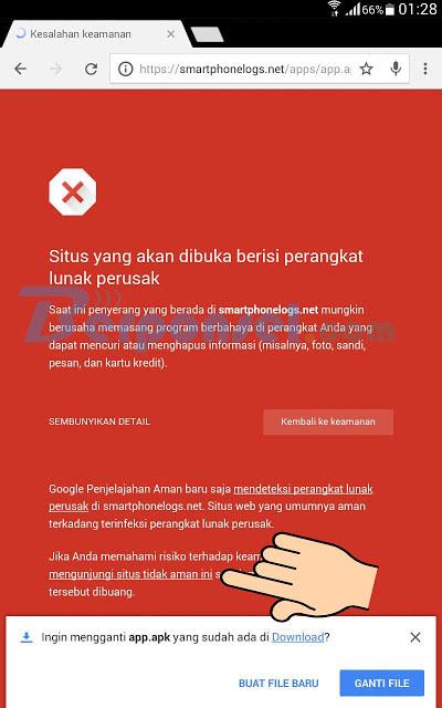 cara download aplikasi smartphonelogs yang terdeteksi dan di anggap virus berbahaya