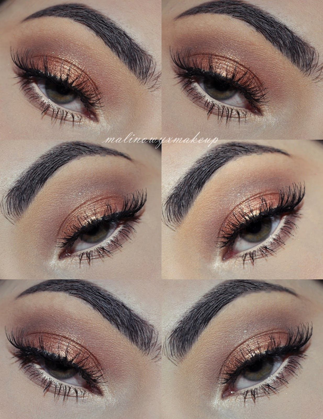 makijaż oka iconic 2 makeup revolution mur propozycja brązy makijaż dzienny makeup daily browns ardell demi wispies