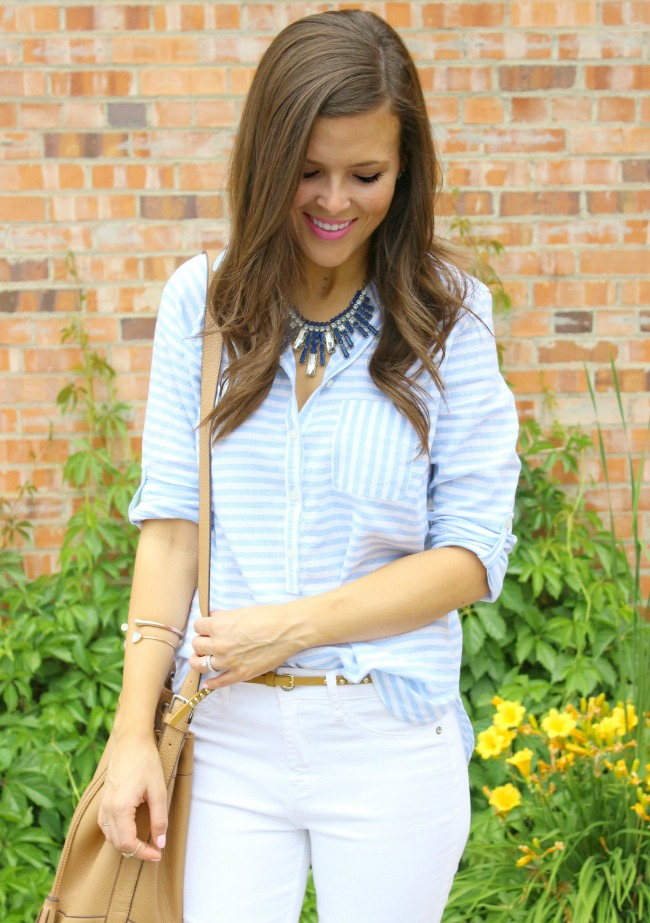 a0bbe1cd66d Stripes and a Statement Necklace - Brie Bemis Rearick
