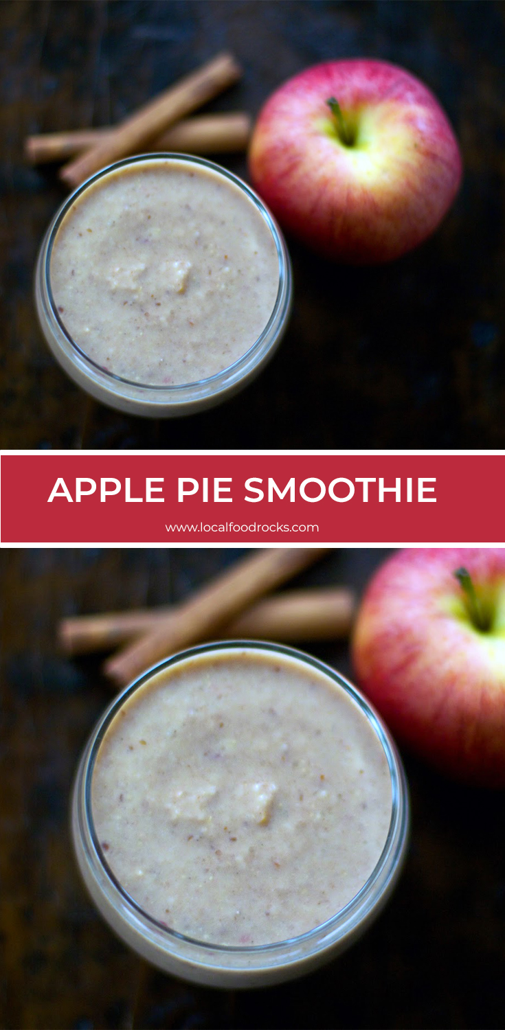 """When you want the flavors of apple pie without the """"dessert guilt"""" give this Apple Pie Smoothie recipe a try. 