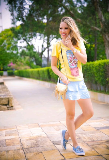 faldas cortas con flores