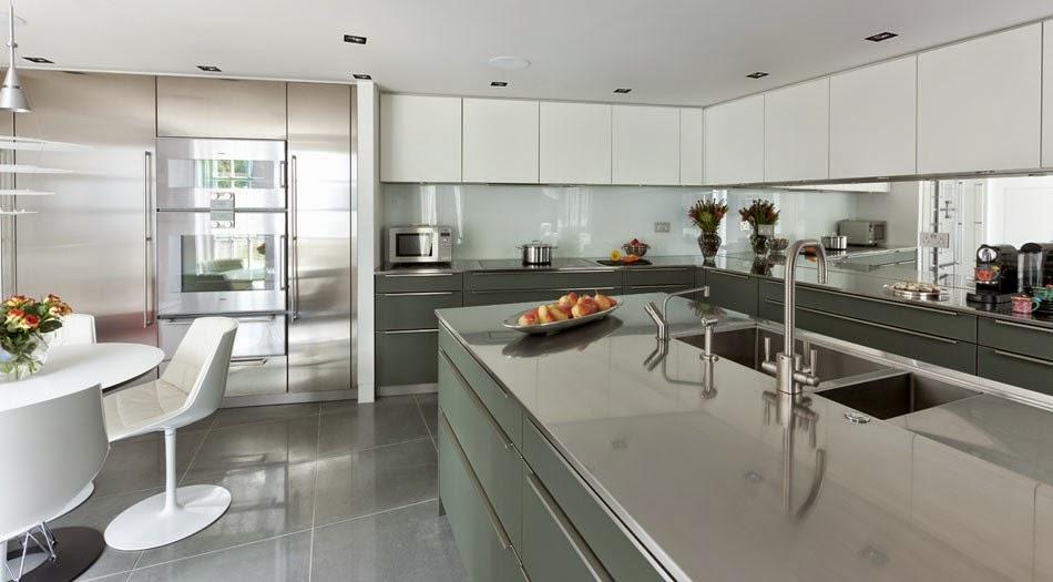 Marzua soluciones de vidrio para la pared frontal de la - Cocinas de cristal ...