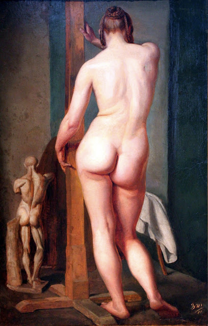 Julius Schnorr von Carolsfeld - nudo femminile da tergo