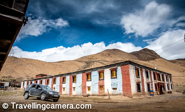 The Tangyud Monastery is also known as Sa-skya-gong-mig Gompa at Komic village of Spiti Valley in Himachal Pradesh. Like some of the other Monasteries in Spiti and Lahaul district of Himachal Pradesh, this one is also little different from modern monasteries, which are very colorful and high. Above photograph shows the Komic Monastery from outside and if you don't know there is a monastery in the village it looks like a big house or some institution/school within the village.     Related Post - Road-Trip from Shimla to Nako through Kinnaur : Spiti Diaries