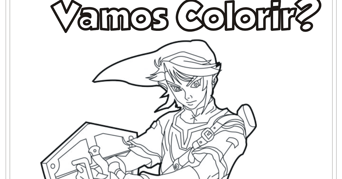 Link Legend Of Zelda Desenho Para Colorir
