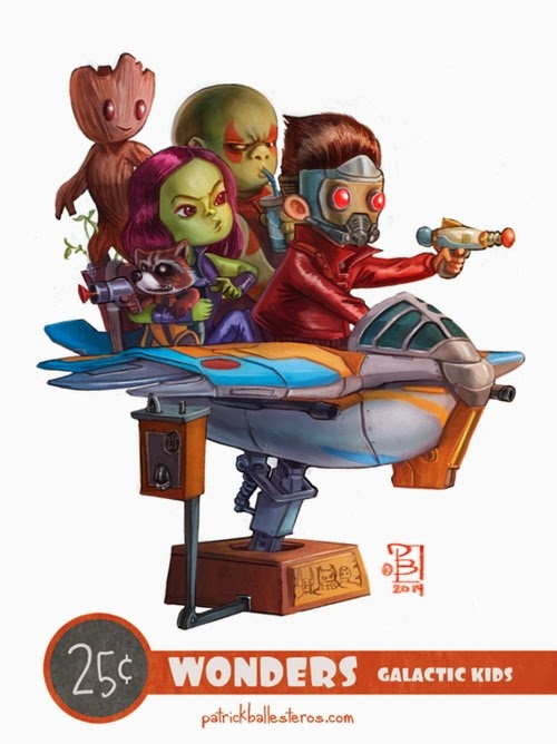 01-Guardians-of-the-Galaxy-Patrick-Ballesteros-25-Cent-Wonders-Drawings-www-designstack-co