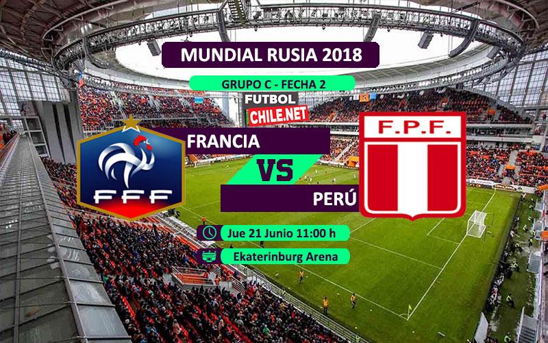 Francia vs Perú por la fecha 2 del grupo C del Mundial Rusia 2018