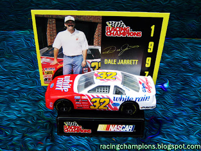Dale Jarrett #32 White Rain Racing Champions 1/64 NASCAR diecast blog BGN Ned Gillette