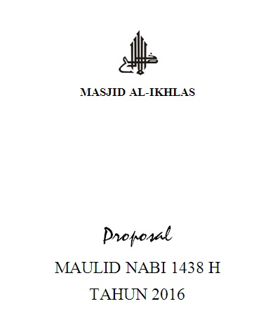 Proposal Maulid Masjid Al Ikhlas Griya Permata Gedangan