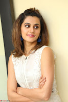 Taapsee Pannu in cream Sleeveless Kurti and Leggings at interview about Anando hma ~  Exclusive Celebrities Galleries 035.JPG