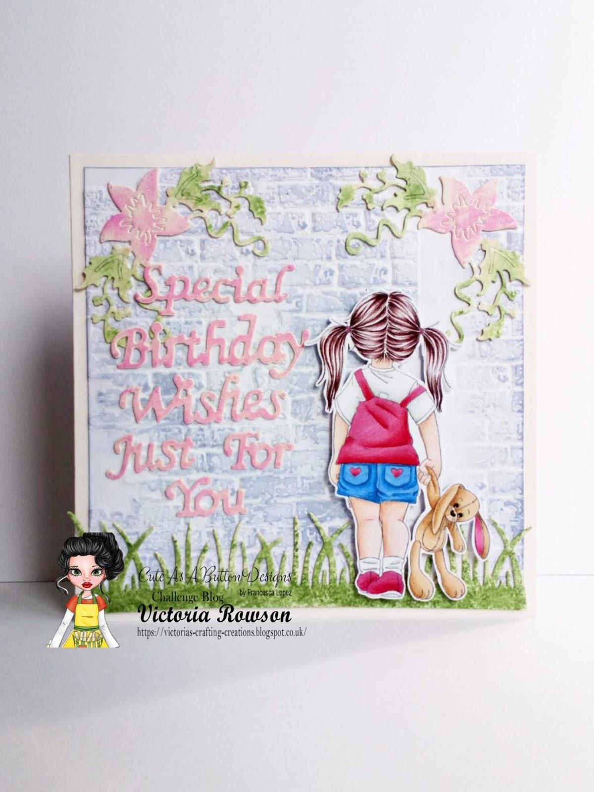 Incredible Victorias Crafting Creations Caab Bunny Walk Special Birthday Personalised Birthday Cards Veneteletsinfo