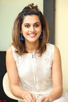 Taapsee Pannu in cream Sleeveless Kurti and Leggings at interview about Anando hma ~  Exclusive Celebrities Galleries 007.JPG