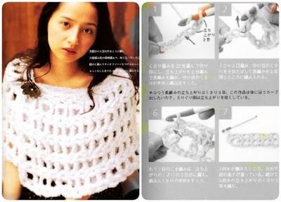 Capa-chal rejilla crochet más revista