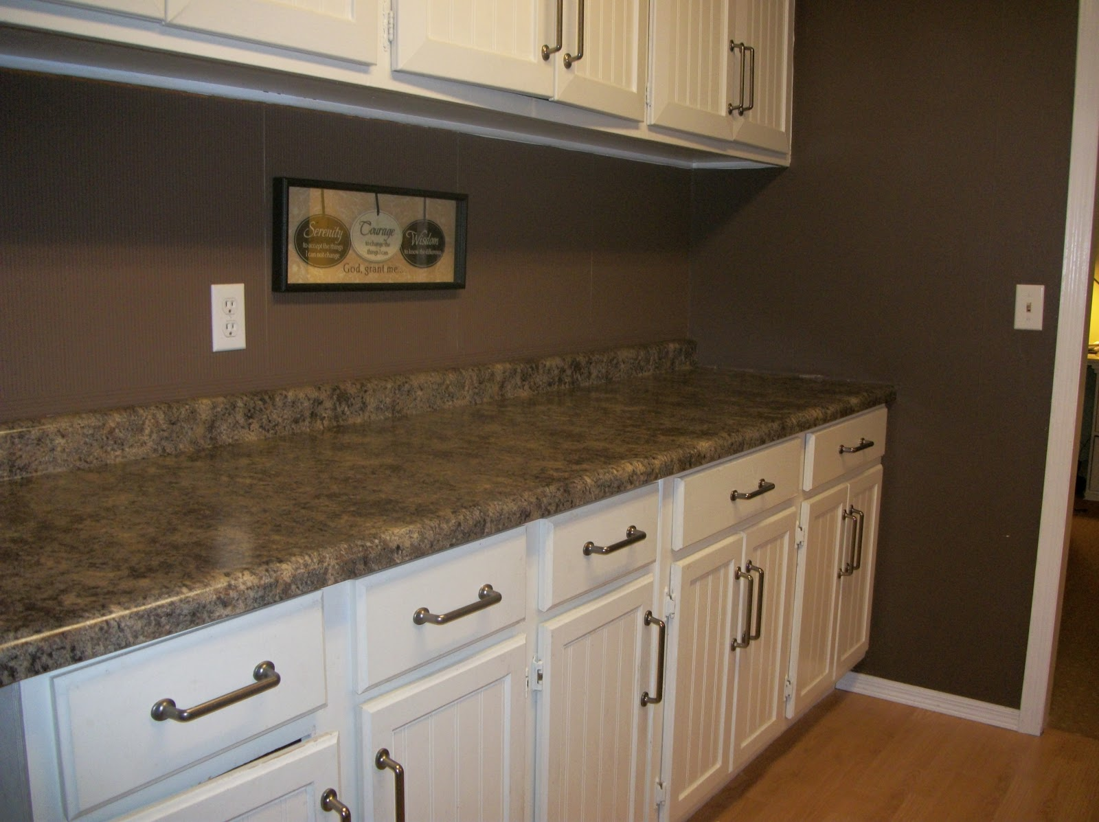 Menards Kitchen Backsplash Storage Wall Units Bella Maria Mom New Countertops Peek