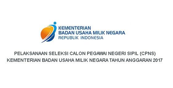 Rekrutmen CPNS Kementerian Badan Usaha Milik Negara Republik Indonesia  Rekrutmen CPNS Kementerian Badan Usaha Milik Negara Republik Indonesia [25 Formasi]