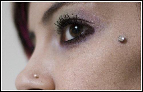 Dermal neck piercing   Microdermal piercing, Neck piercing ...  Dermal Piercing