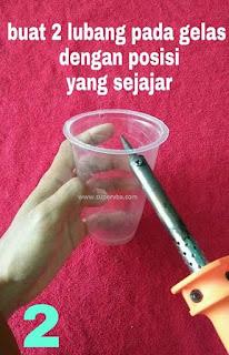 tutorial cara mudah buat lampion dari daur ulang gelas plastik bekas
