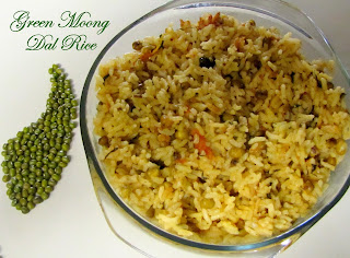 Green moong dal rice