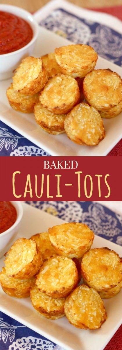 BAKED CAULI-TOTS {HEALTHY TATER TOTS}