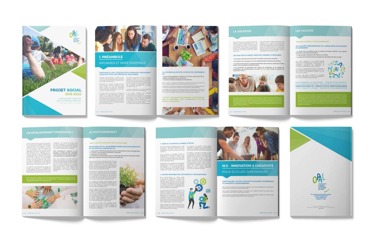 Création brochure, Projet Social OPAL