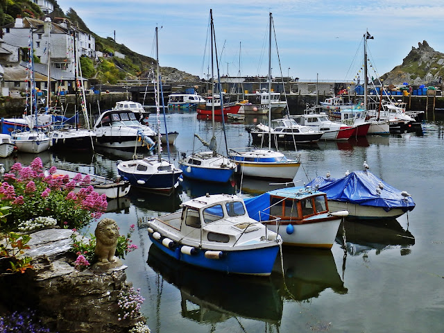 Boats in Polperro harbour, Cornwall