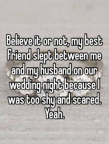Women share stories about their first wedding night and what went sometimes things dont go they way you think they should women share stories about their first wedding night junglespirit Gallery