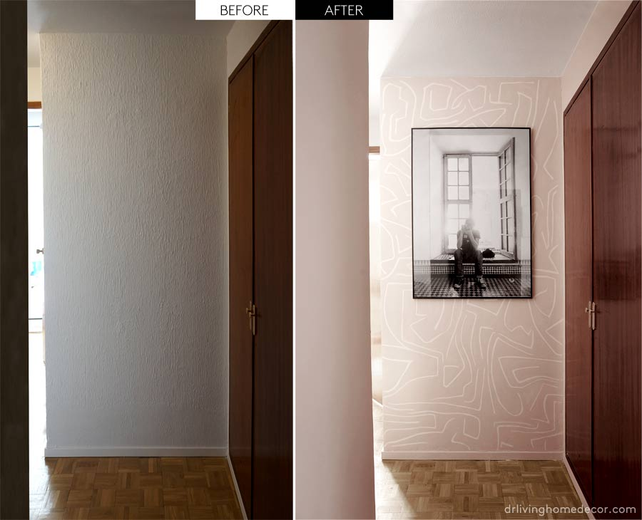 My hall makeover. Part I - diy accent wall - Dr ...