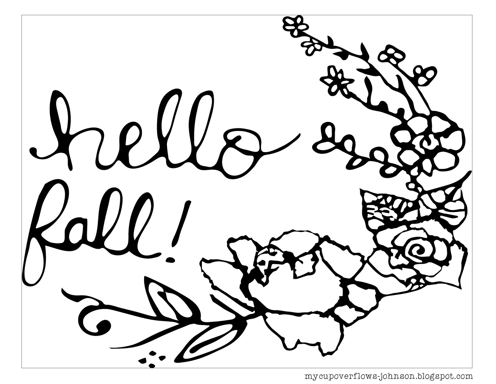 My Cup Overflows Fall Coloring Pages