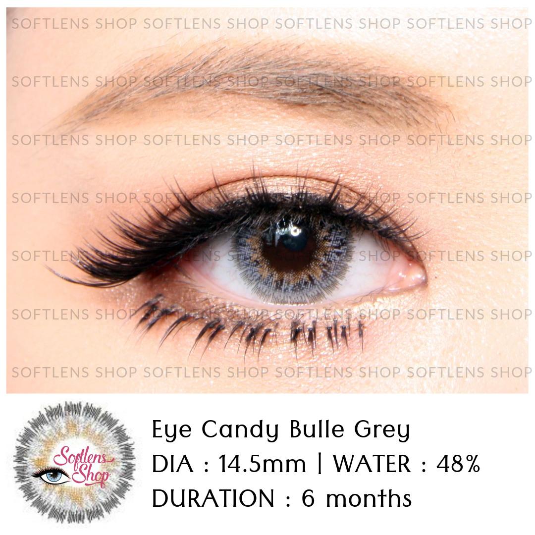Softlens Shop Eye Candy Lovely Girl Sweety Black Bulle Grey