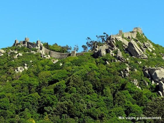 El castillo do Mouros o Castelo do Mouros, Sintra, Portugal