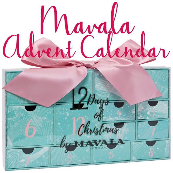 Here are the contents of the Mavala 12 Days of Christmas Advent Calendar for Holiday 2017.
